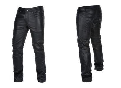 Skórzane spodnie męskie Ochnik